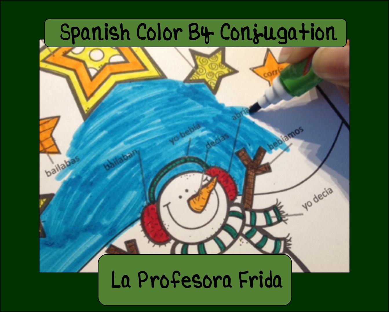La Profesora Frida, The Stress Free Spanish Teacher!: Spanish Color ...
