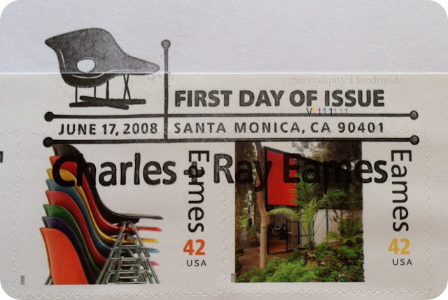 La Chaise First Day of Issue Frank, Eames Stamps