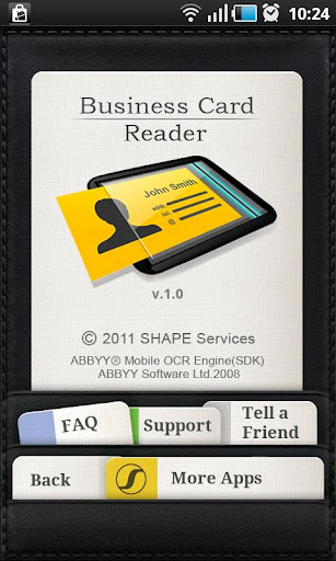 Business Card Reader v1 3 Apk App Android Symbian Games