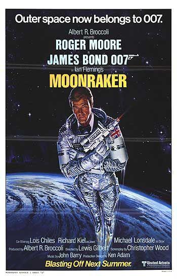 Moonraker, Roger Moore, James Bond, Star Wars, 007
