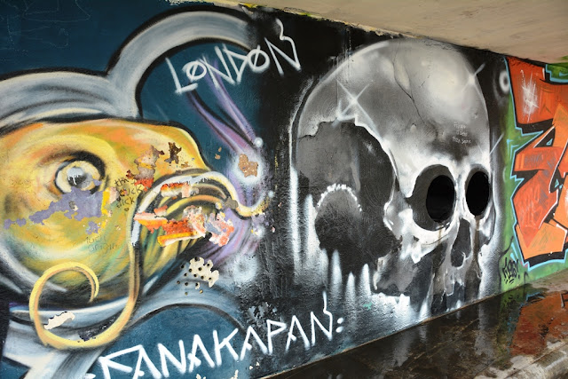 Graffiti St. Julians skull
