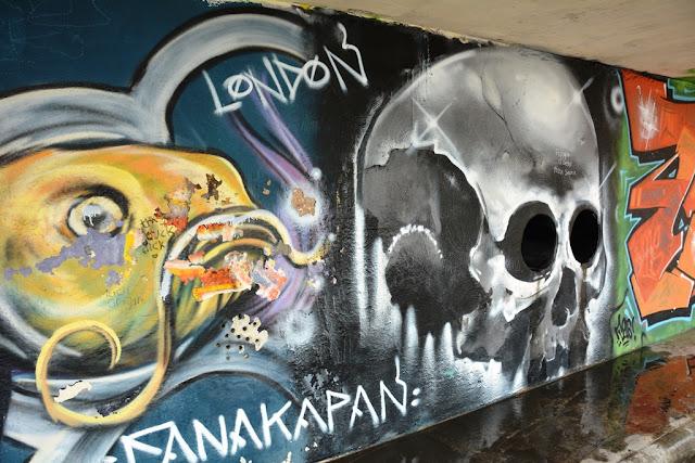 Graffiti St. Julians skull