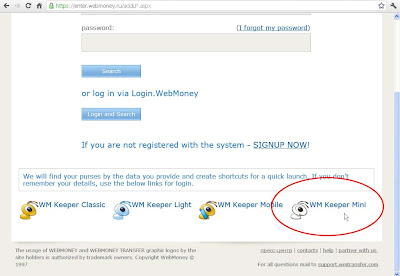 webmoney z purse login
