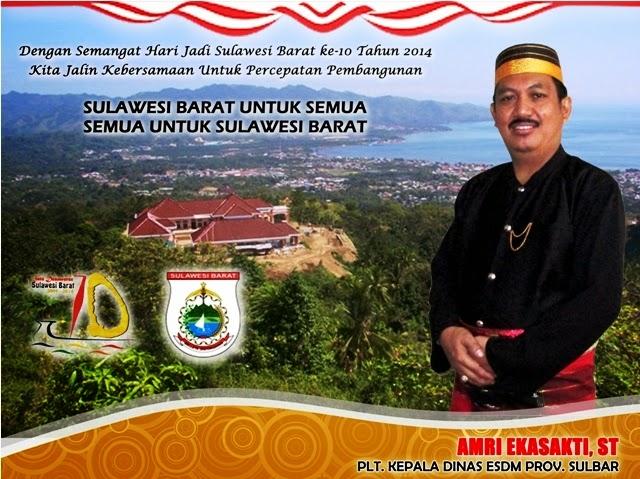 Ucapan Dinas ESDM Sulbar Satu Dasawarsa Provinsi Sulawesi Barat Tahun 2014