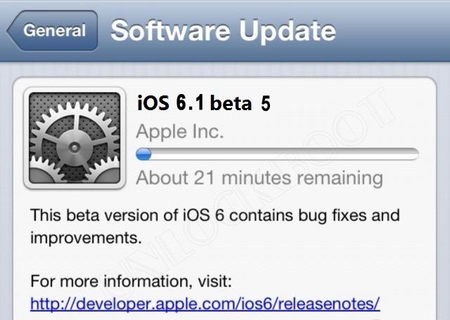 iOS 6.1 beta 5 Download links