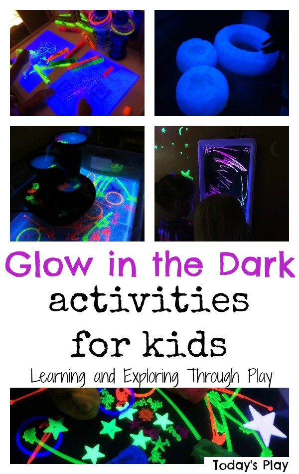 Words That Glow In Dark >> Learning and Exploring Through Play: Glow in the dark activities for kids