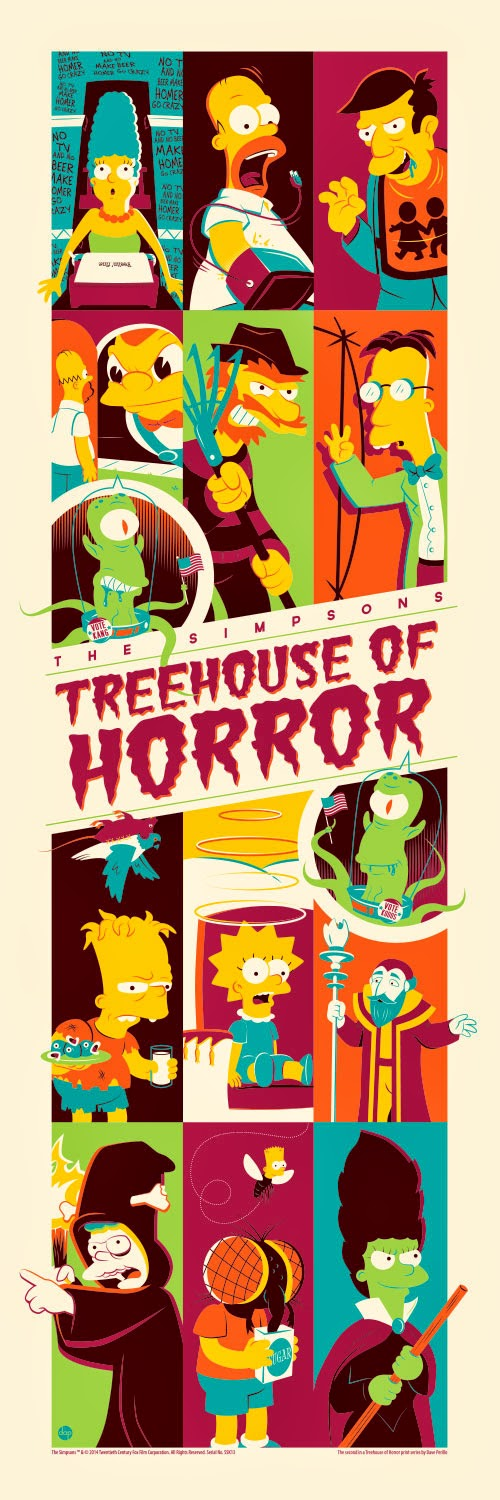 """Treehouse of Horror 2"" The Simpsons Screen Print by Dave Perillo"