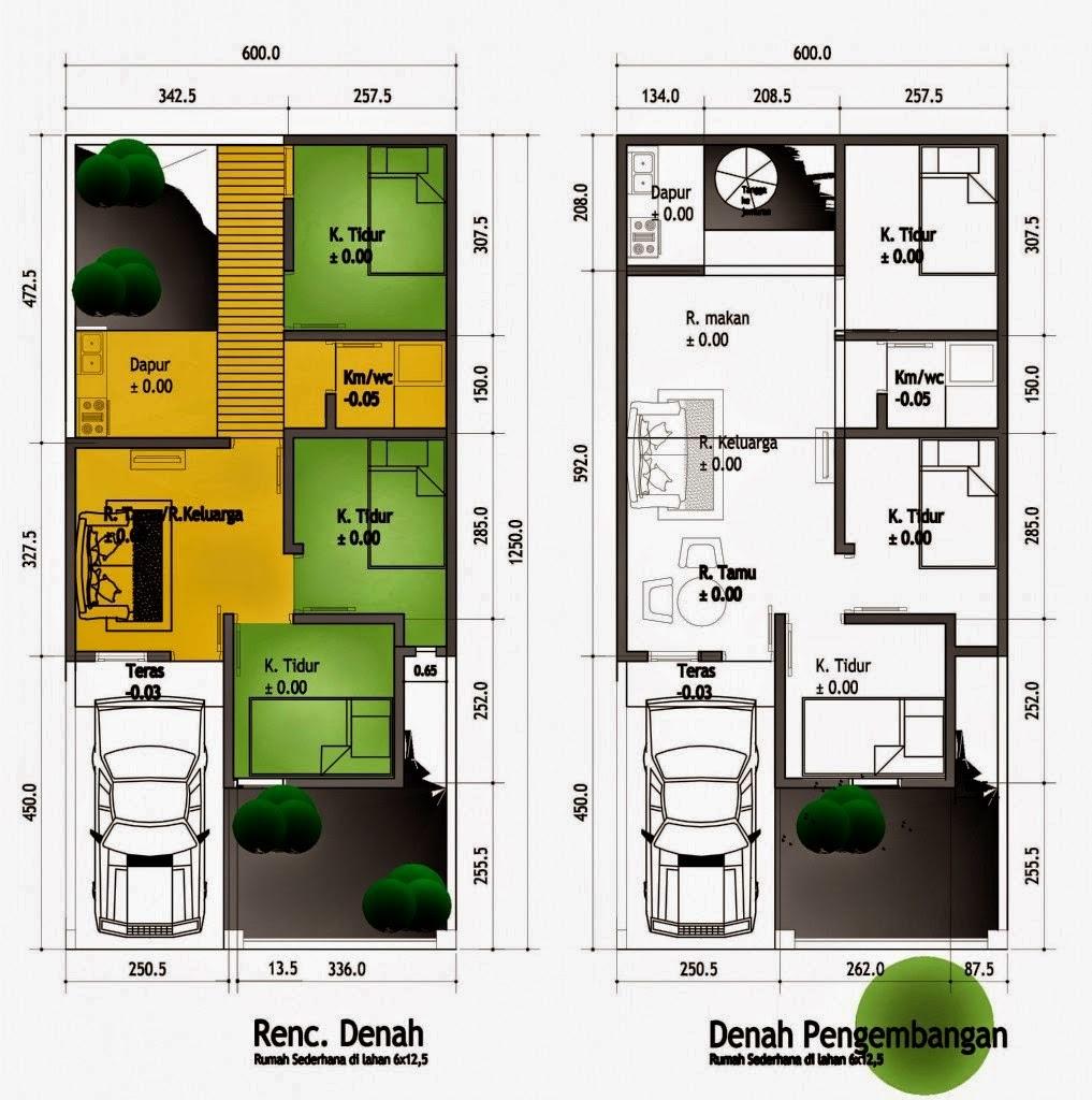 Plan minimalist 3 Bedrooms