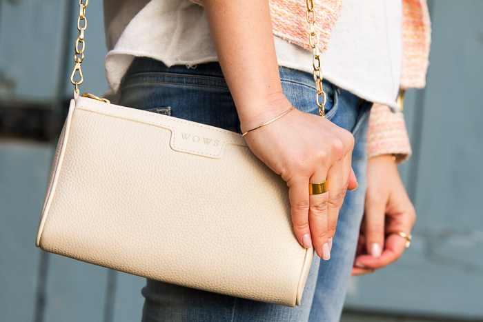 Ivory MAGGIE Personalized Bag  GIGI New York and LUMO jewels