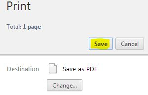 save web page as pdf using chrome wihout software