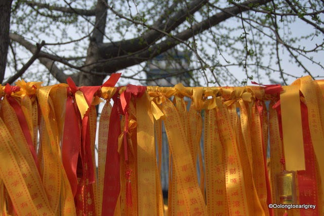 Prayer ribbons, Zhenru Temple, Shanghai