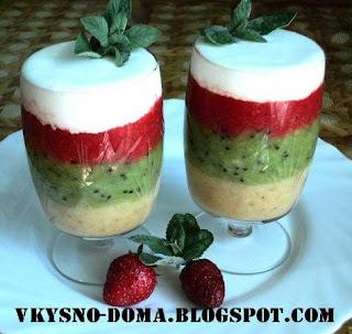 Холодный десерт Радуга