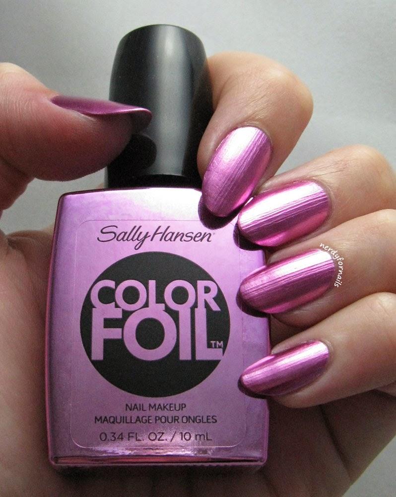 Sally Hansen Color Foil Titanium Flush Swatch