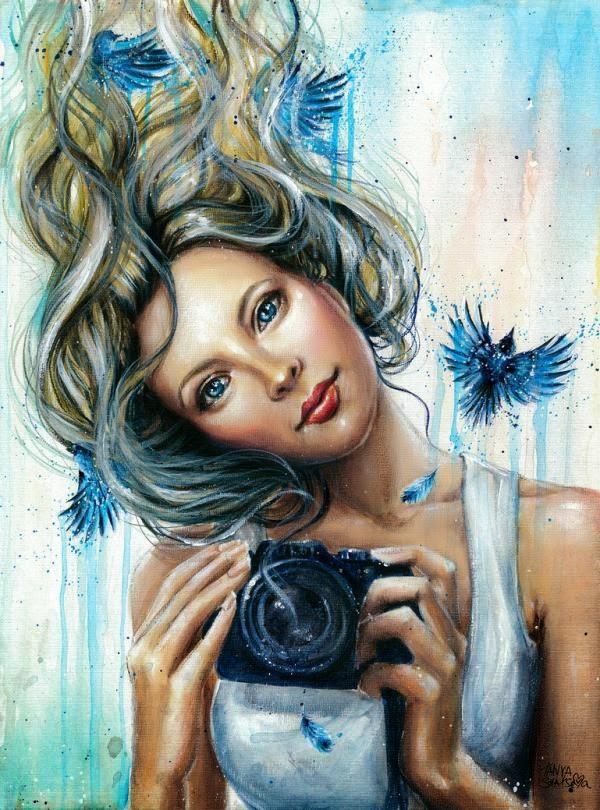 watercolor portrait paintings by russian artist tanya