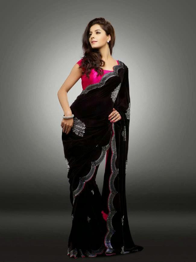 Isha Talwar In Black and Pink Saree