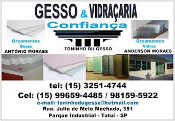 GESSO & VIDRAÇARIA CONFIANÇA
