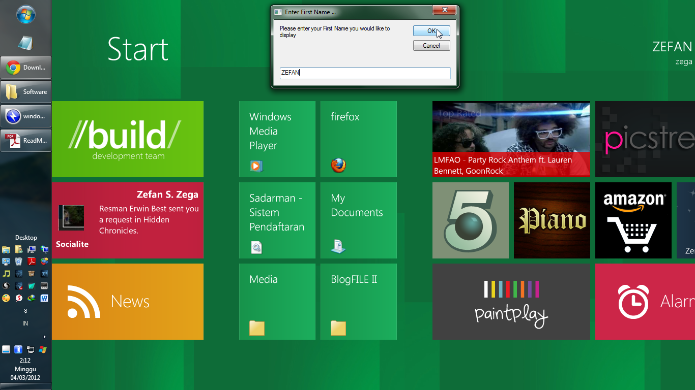 Download Windows 8 Start Screen Full Untuk Windows XP, Vista dan 7