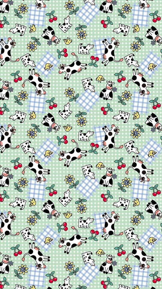 Cows And Dogs Picnic Pattern  Galaxy Note HD Wallpaper