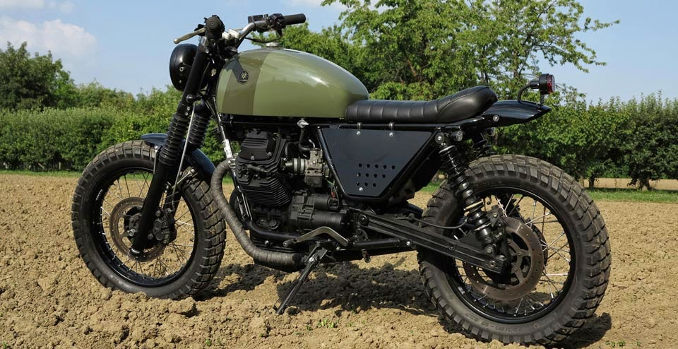 Garage italiano moto guzzi ntx tractor 750 by venier custom for Garage preparation moto
