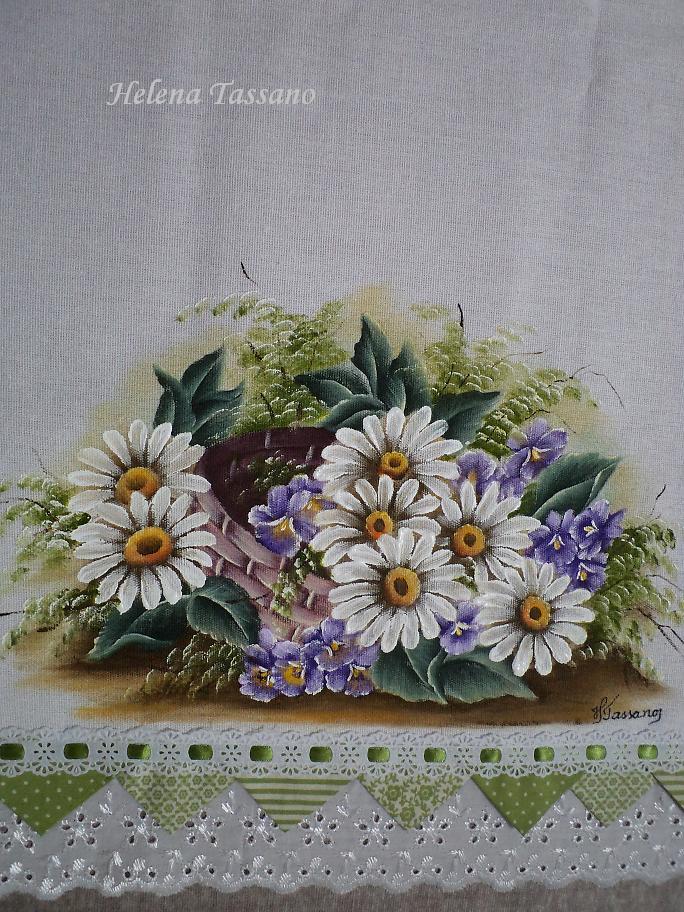 Pintura em Tecido, Aulas de Pintura, Pintura sobre Tela: Pano de prato
