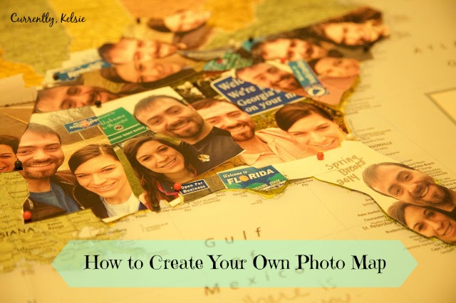 How To Create Your Own Photo Map Currently Kelsie - Make your own travel map