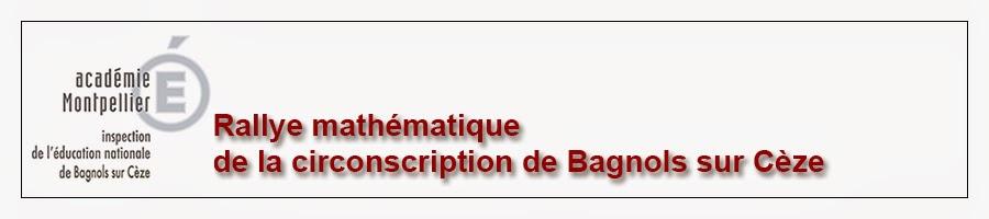 Défi mathématiques de la circonscription de Bagnols sur Cèze