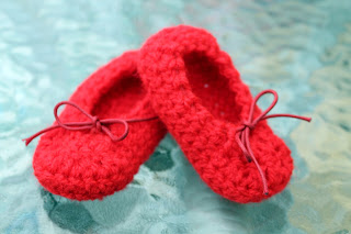 Bailarinas para bebé a crochet - Ahuyama Crochet