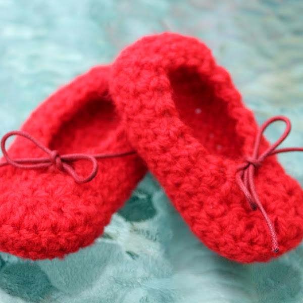 Bailarinas para Bebé a Crochet