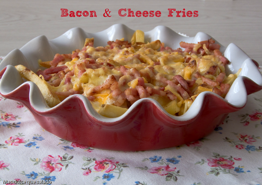Bacon & Cheese Fries :patatas Al Estilo Foster´s Hollywood