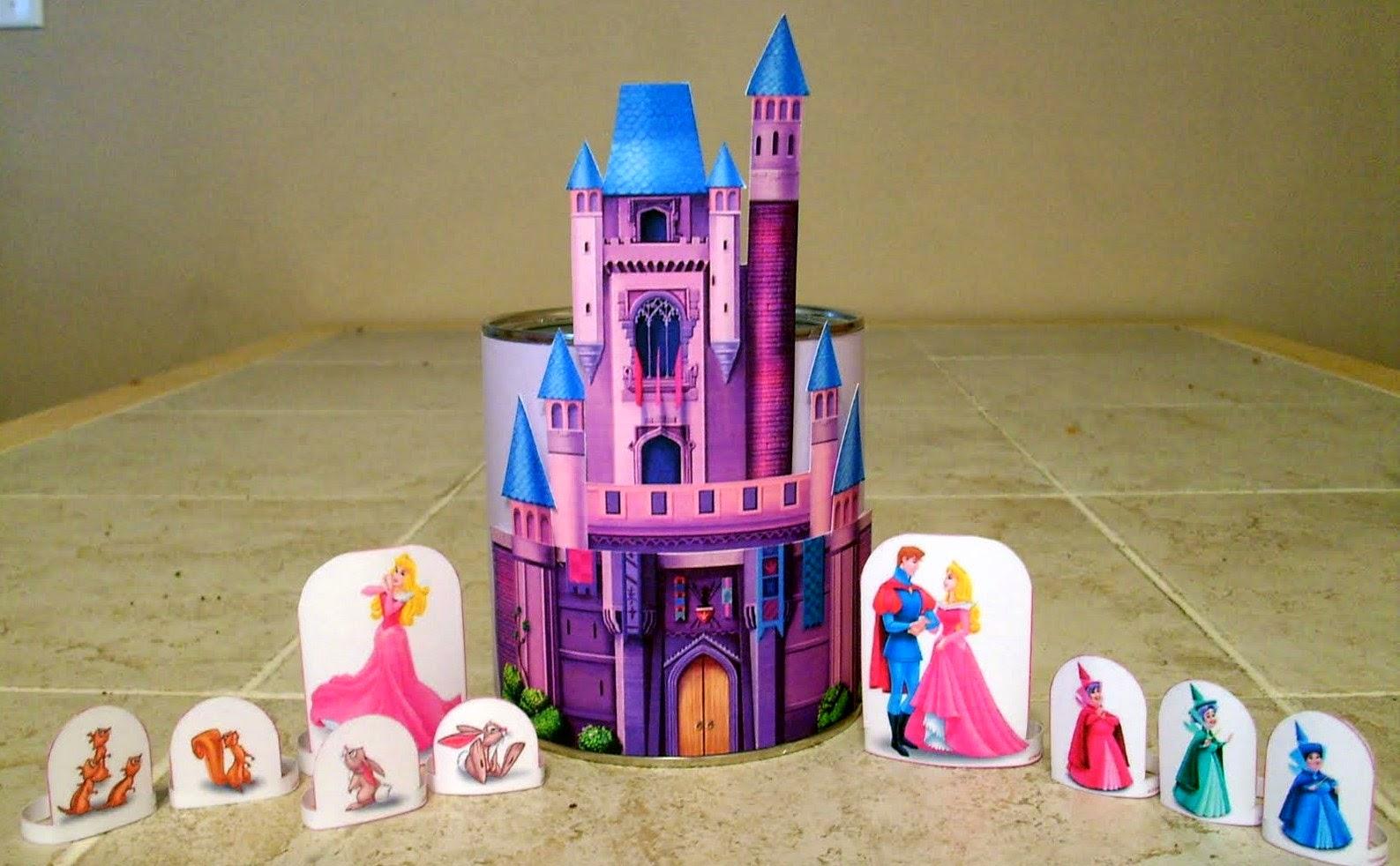 Castillo de Aurora para Imprimir Gratis.