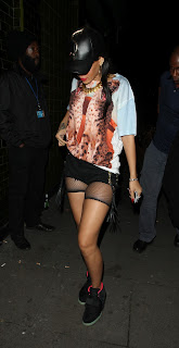 Rihanna in an unusual outfit