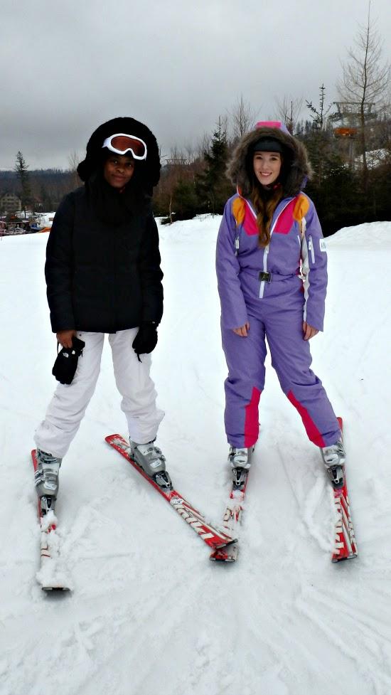Learning to ski at Tatranská Lomnica Slovakia