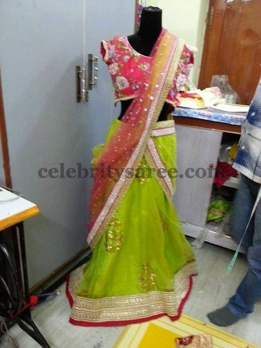 Opulent Half Saree for Reception