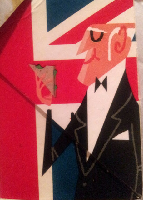 Cartoon butler on sandwich packaging