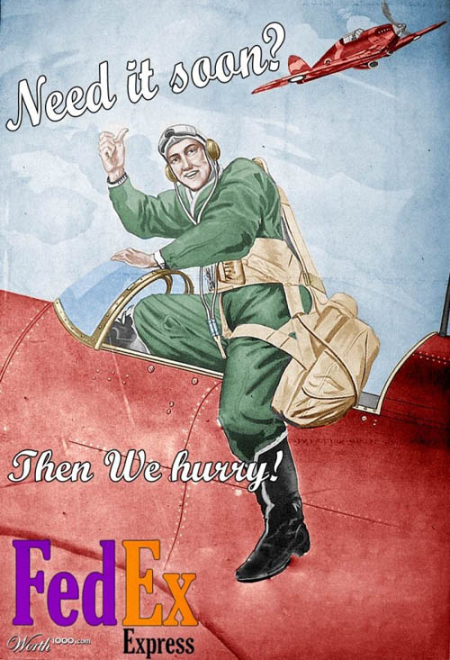 anúncios vintage - produtos modernos - FedEx