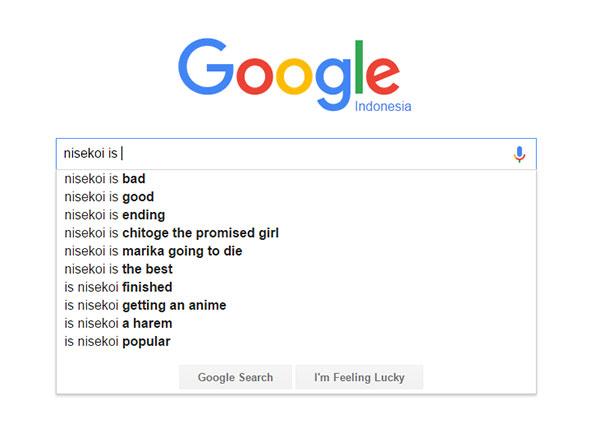 Nisekoi - score/nilai dari Google