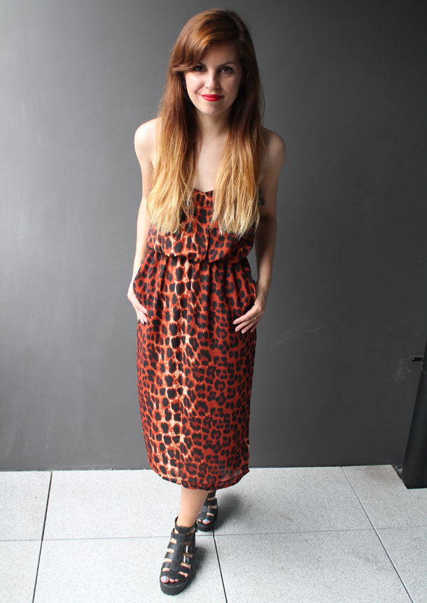 Sweet Monday, Glamorous, Leopard print midi dress