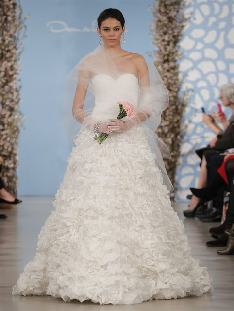 Oscar de la Renta Spring 2014 princess Wedding Dresses