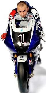 Lorenzo with 2011 Yamaha YZR-M1 for MotoGP