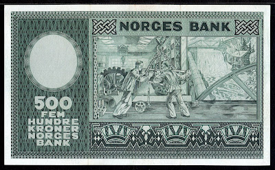 Norway money 500 Kroner banknote
