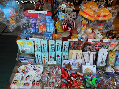 Souveneirs on display in Nakamise Shopping arcade, Japan