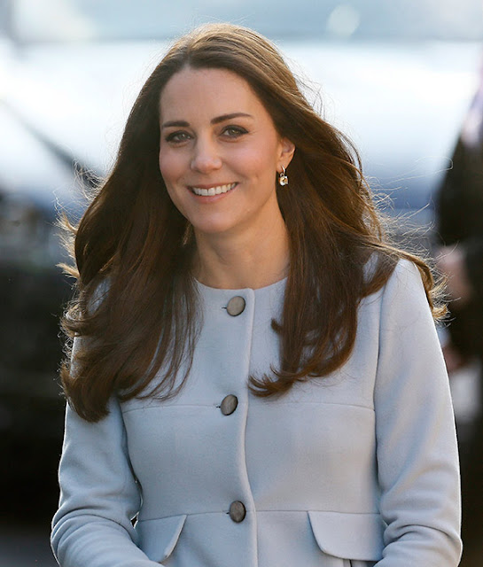 Catherine, Duchess of Cambridge attends coffee morning at Family Friends