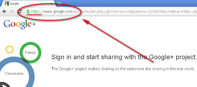 Google+ Valid Site Address Sign Up