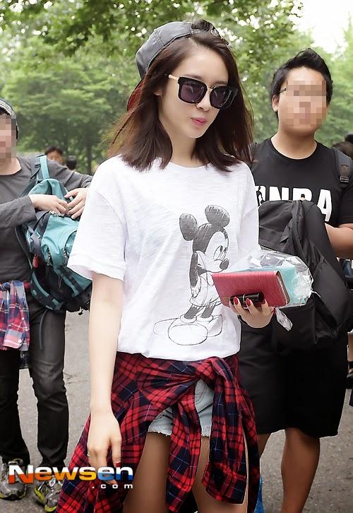 Jiyeon Music Bank Arrival