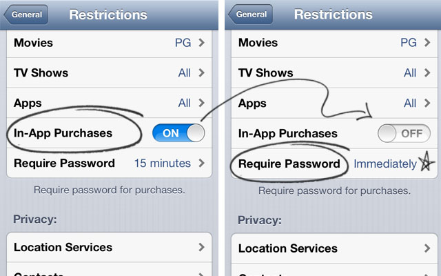 how to turn off sim restrictions