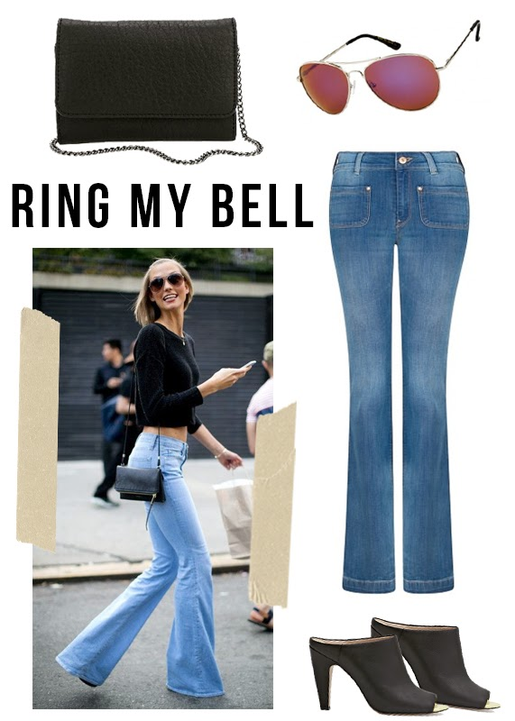 The Steele Maiden: Spotted - Flare Leg Jeans