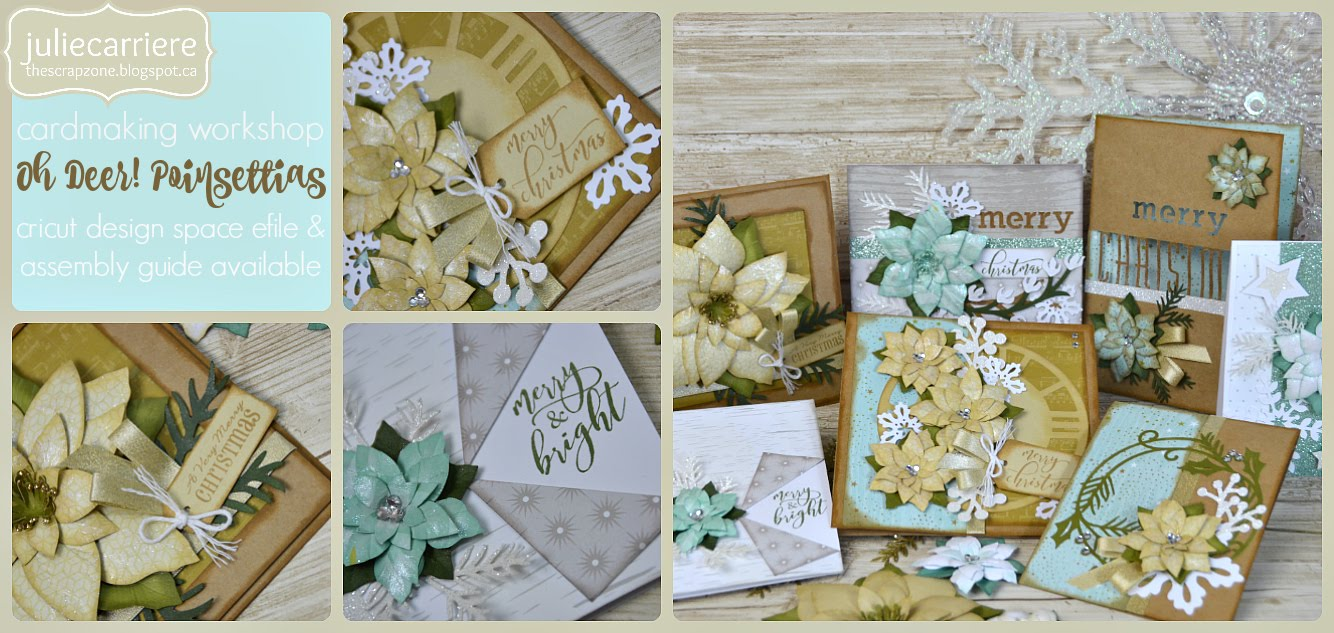 Oh Deer Poinsettia Cardmaking assembly guide for EXPLORE only