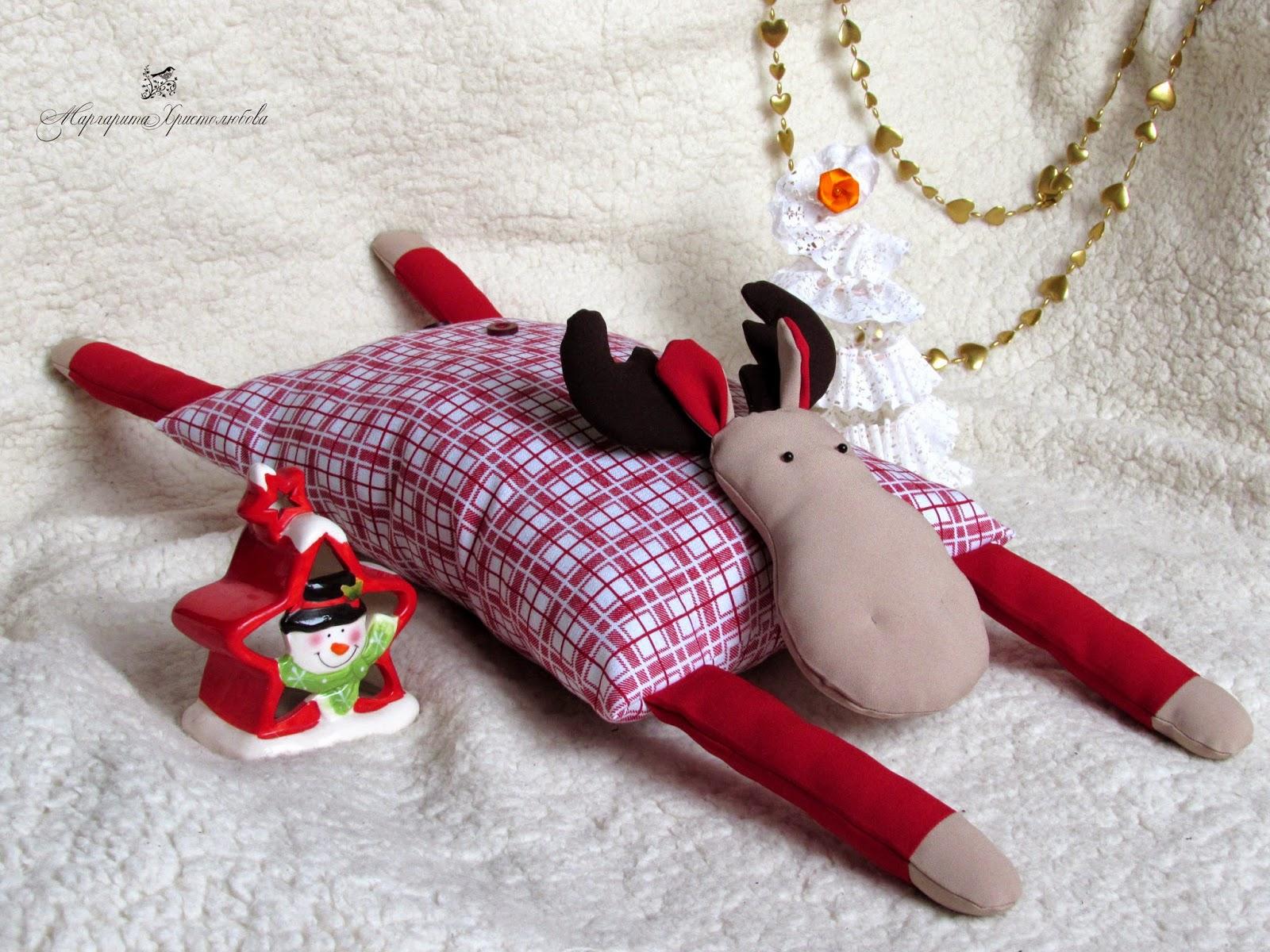 Как сшить подушку оленя 26