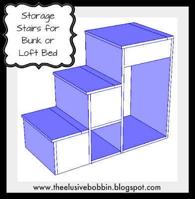 How to Build a Loft Bed With Storage Stairs