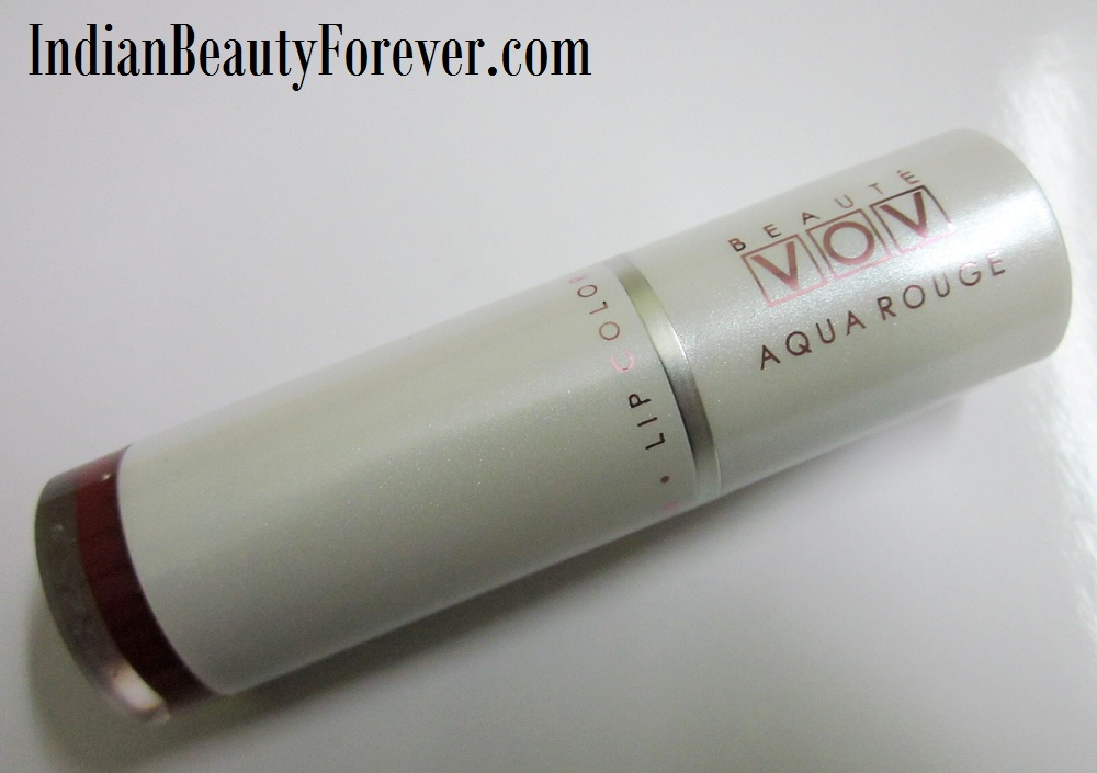 VOV Aqua Rouge Lipstick In Spicy Red Swatches